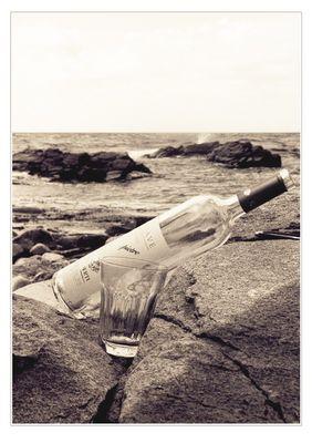 Flasche auf 9 Uhr