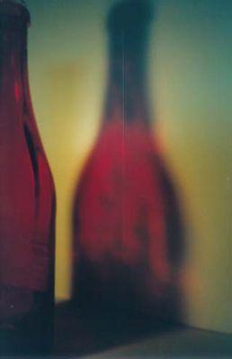 flasche und schatten