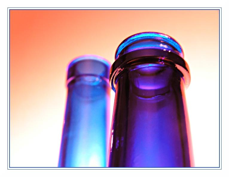 Flaschen, blau II