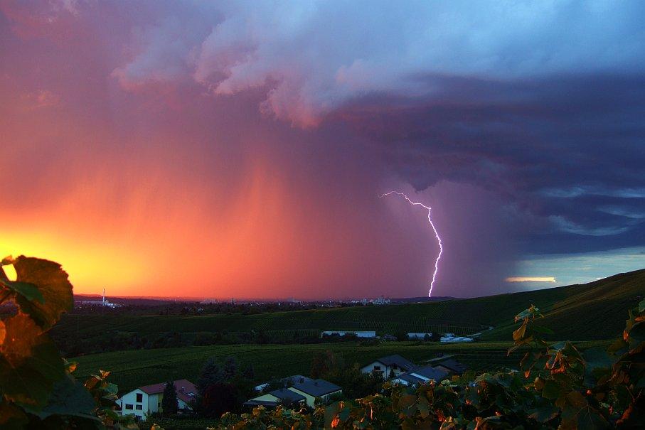 flash at sunset