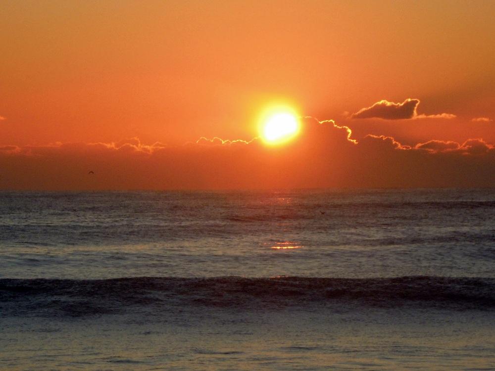 Flash naranja del amanecer