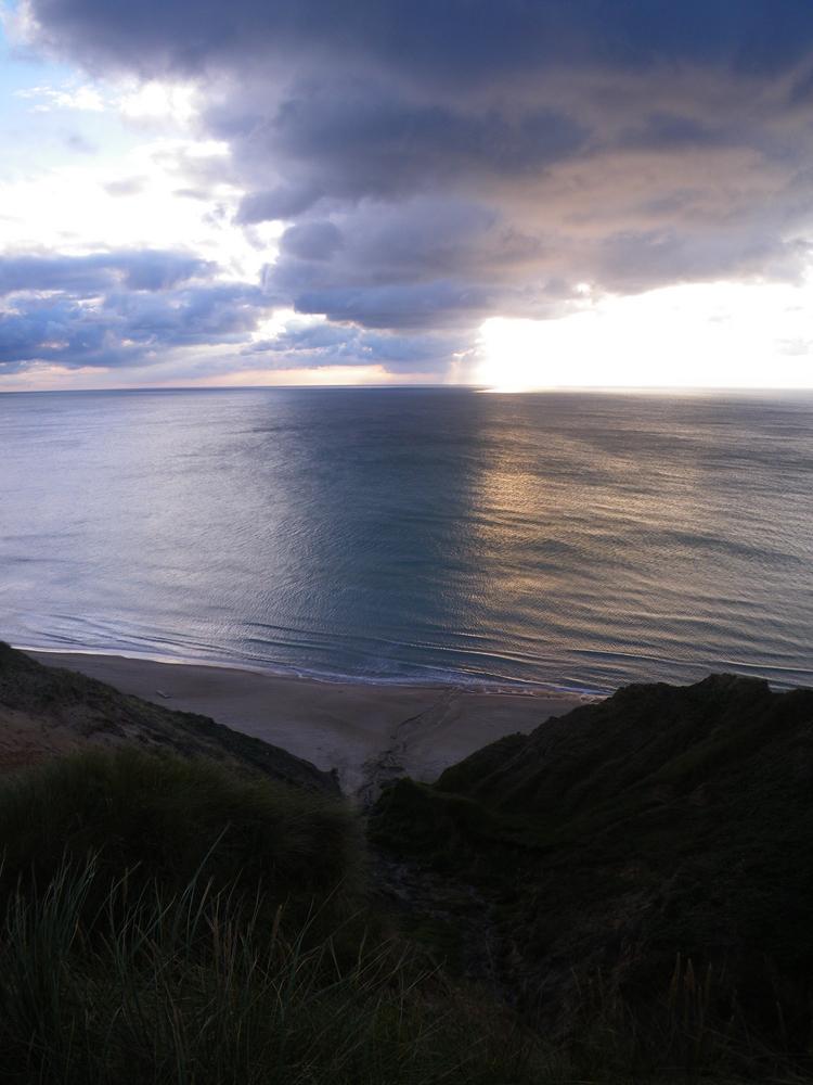 Flaute an der Steilküste