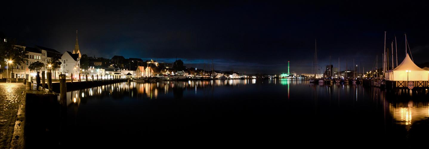 Flensburg bei Nacht