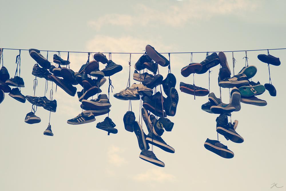 Flensburg - hängende Schuhe
