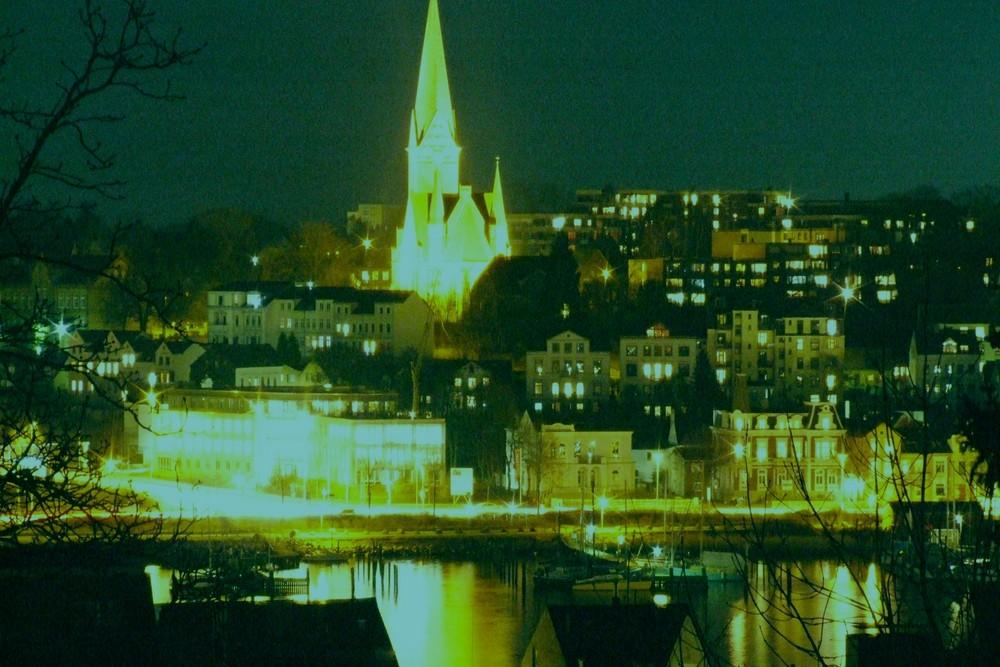 Flensburg -St. Juergen- bei Nacht