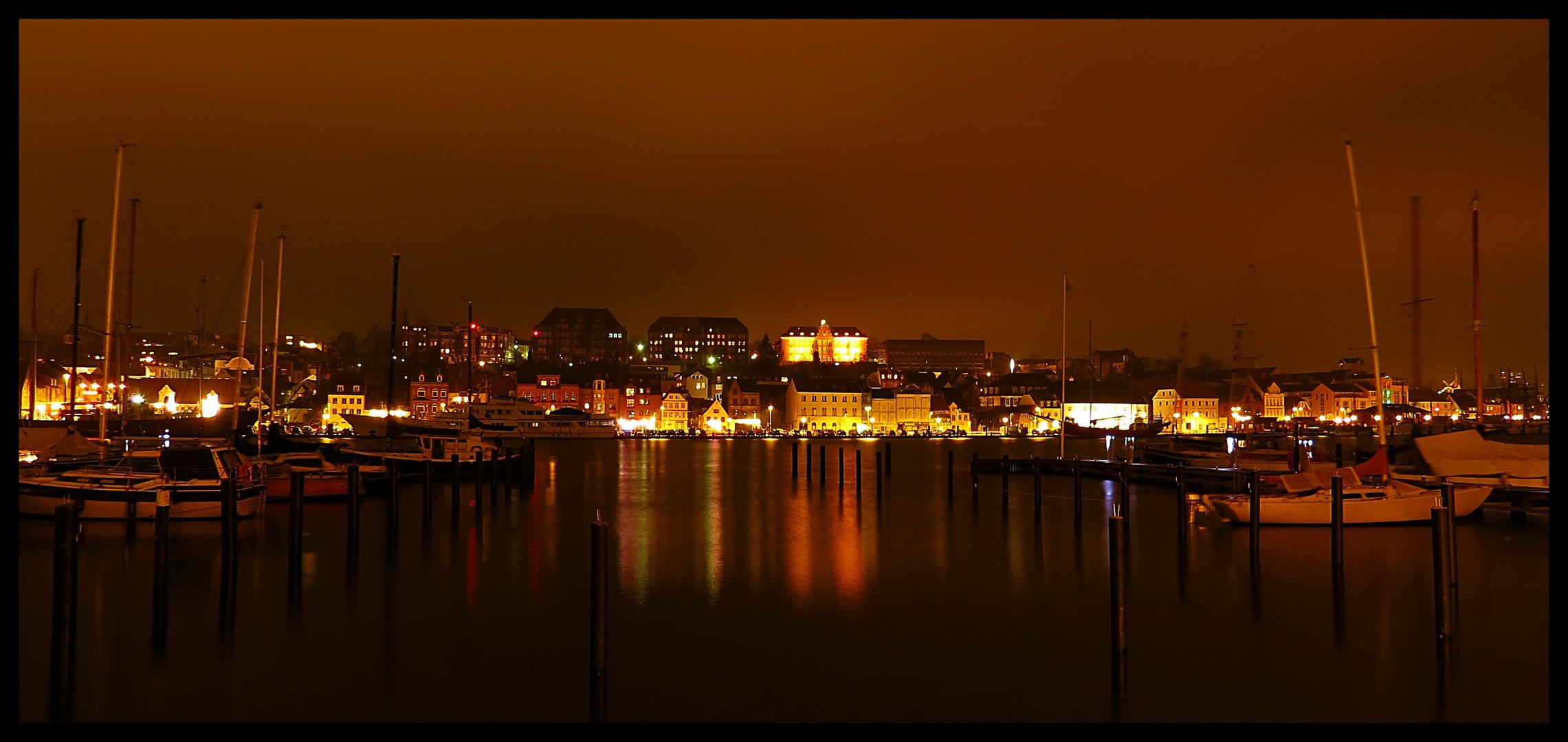 Flensburger Küste bei Nacht