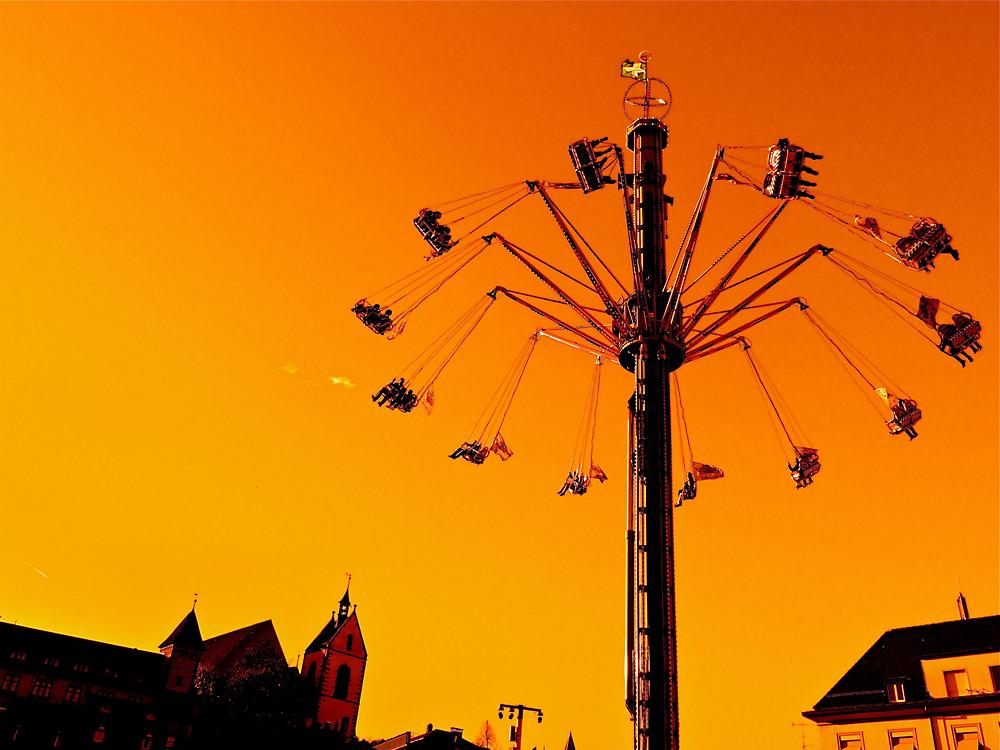 fliegen über Basel's Altstadt