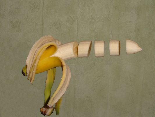 Fliegende Banane