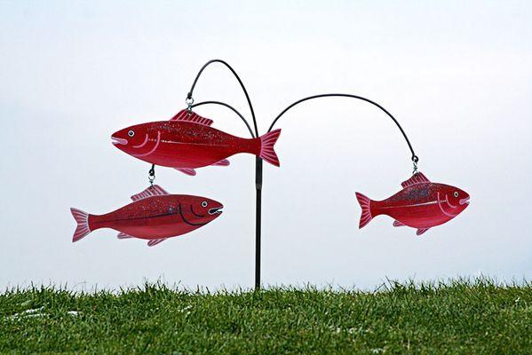 fliegende fische am haken...