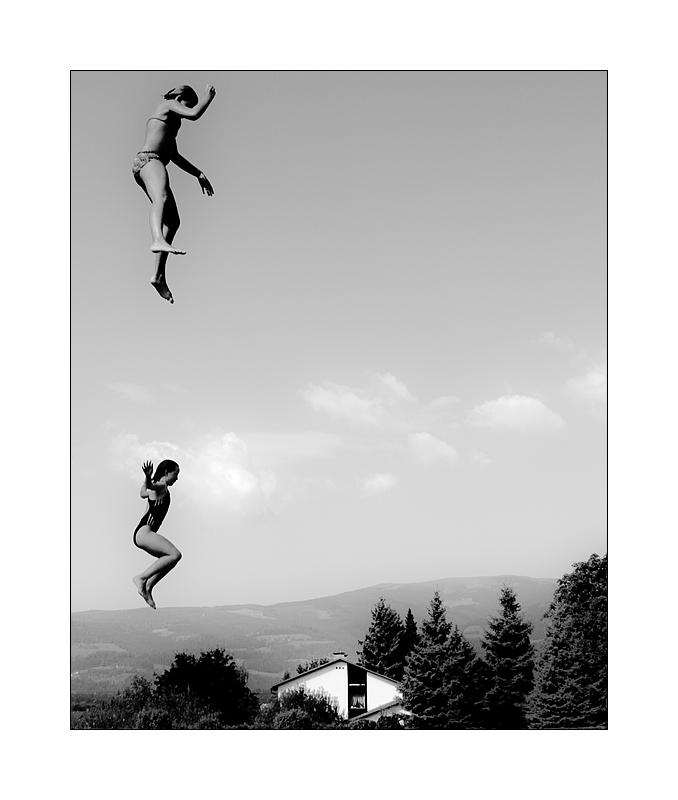fliegende Mädchen