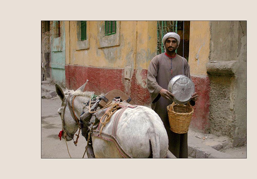 Fliegender Händler in Kairo