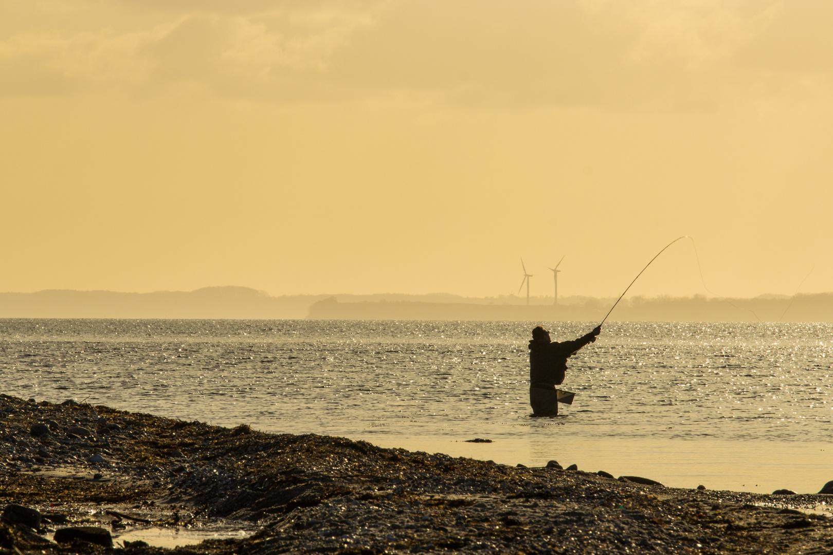 Fliegenfischer an der Ostsee