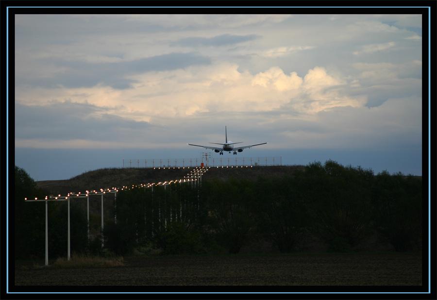Flieger bei der Landung