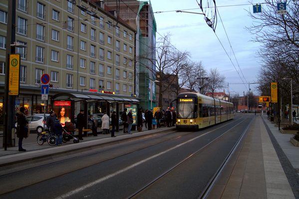 Fliehende Linien Dresden Pirnaischer Platz