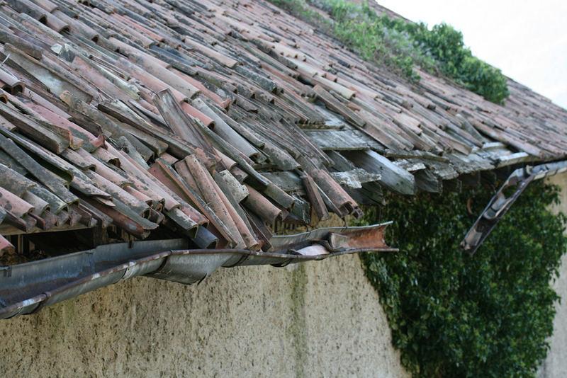 fließende Dachziegel