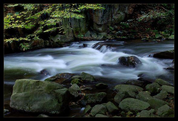 fließendes Wasser, Bodeltal, Harz