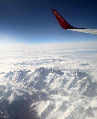 Flight over European Alps