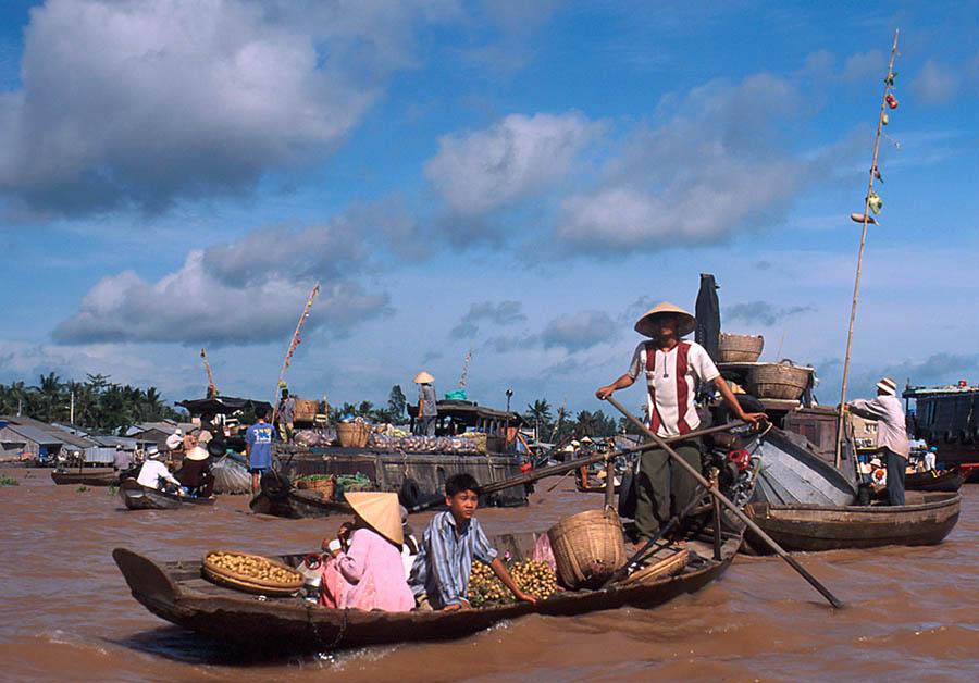 Floating Market im Mekong-Delta