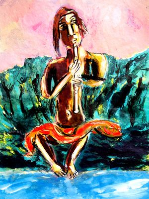 Flötenbuddha