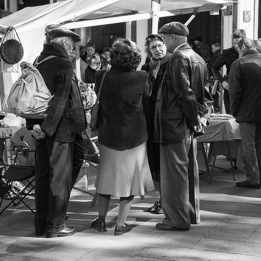 Flohmarkt-Begegnung