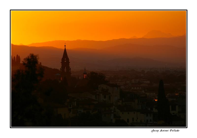 Florència a la posta - Firenze at sunset