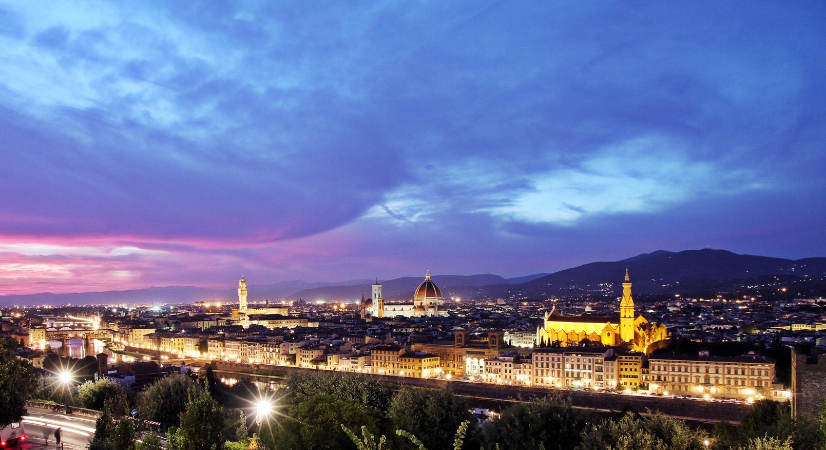 """Florenz bei Nacht """"bella Firenze"""""""