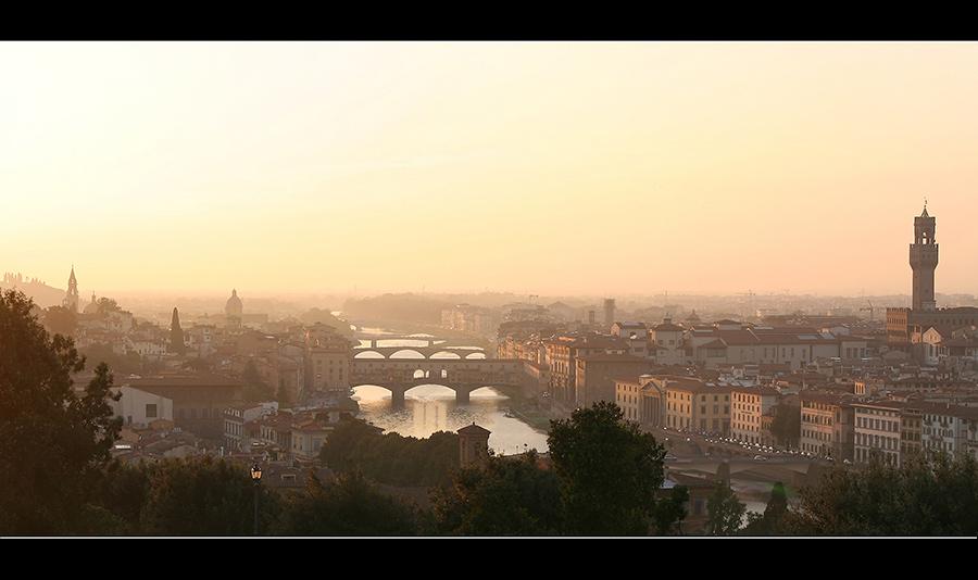 Florenz bei Sonnenuntergang