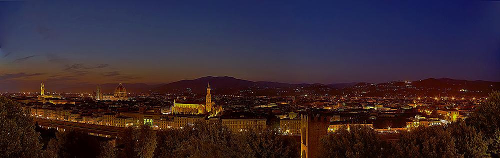 Florenz Nachtpanorama