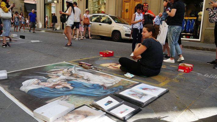 Florenz - Straßenmalerei