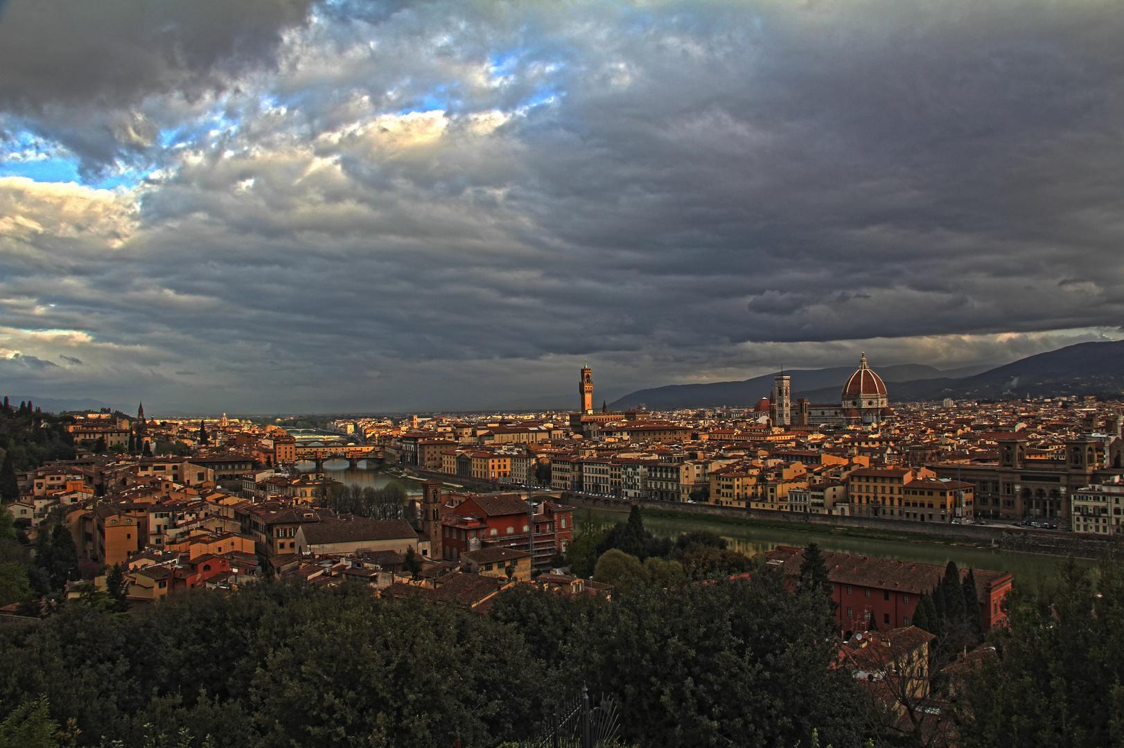 Florenz von Piazzale Michelangelo aus gesehen
