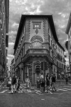 Florenz während des dunkel werdens s/w