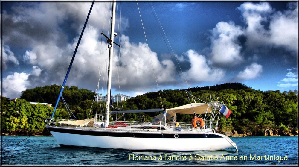 Floriana à l'ancre en Martinique