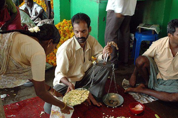 Flower Market in Madurai