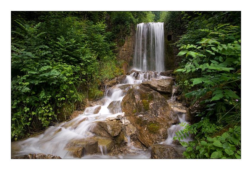 .flowing water.