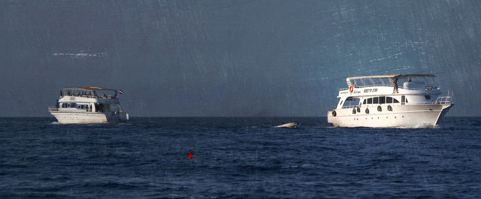 Flucht (Sinnbild zu Griechenland)