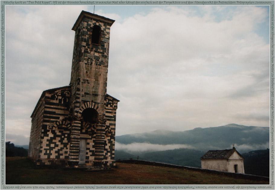 """""""Fluchtpunkt Himmel"""" oder: Abendliche Stille um San-Michele-di-Murato"""