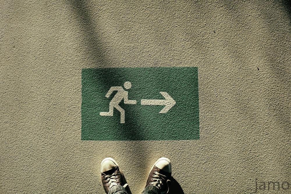 Fluchtweg