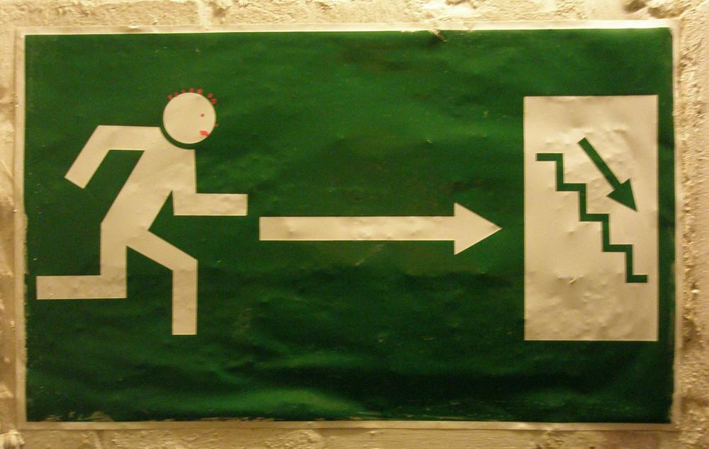 Fluchtweg - Hinweisschild