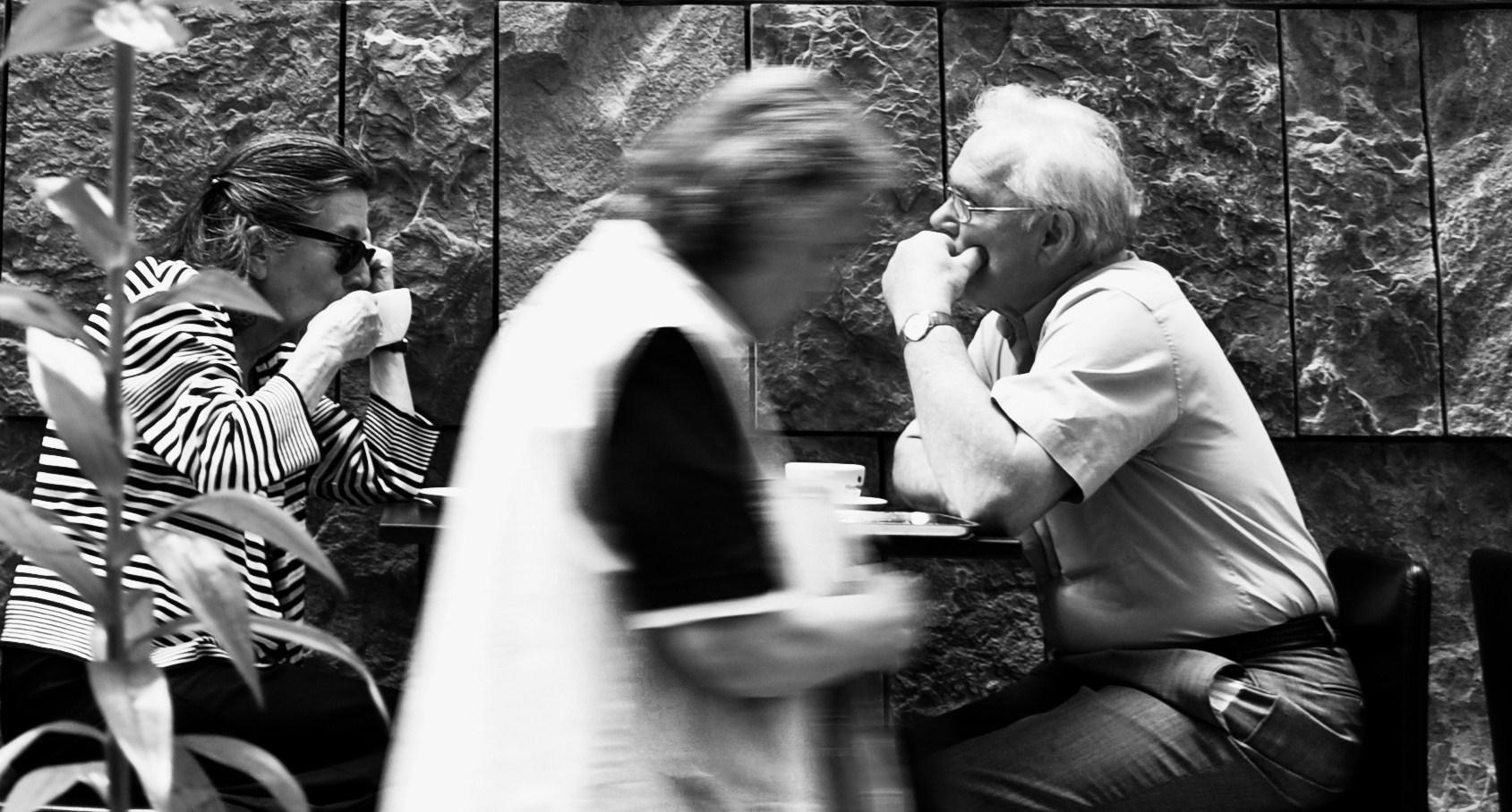 ....flüchtig , oder ein stiller Moment beim Kaffe