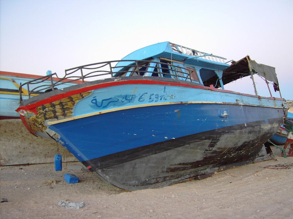 Flüchtlingsboot in Lampedusa 2