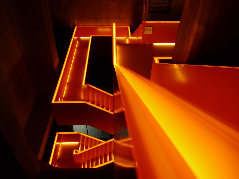 flüssiger Stahl oder Treppenhaus?