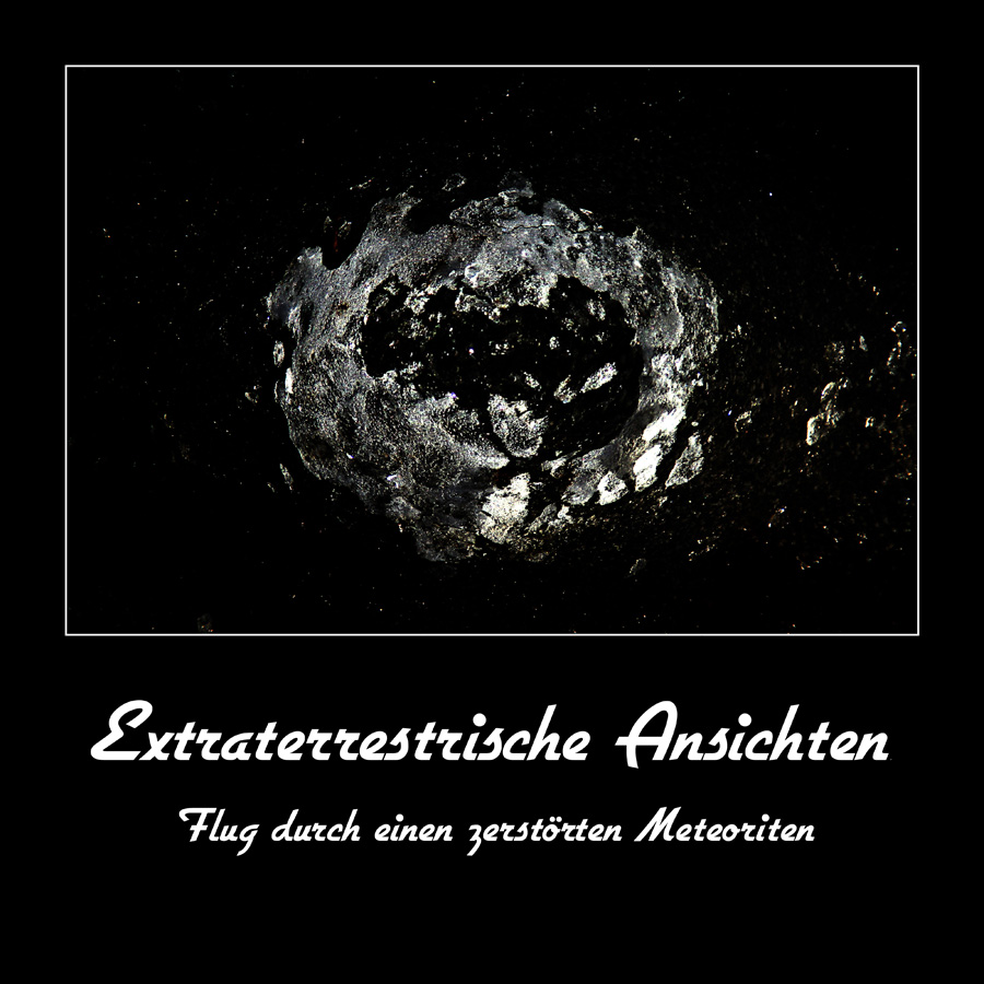 Flug durch einen zerstörten Meteoriten