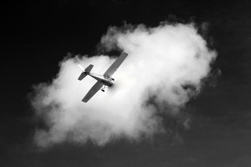 Flug in die Wolken 02