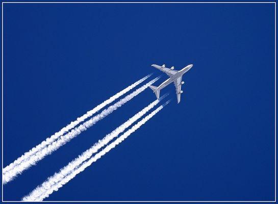 Flug ins Blaue.