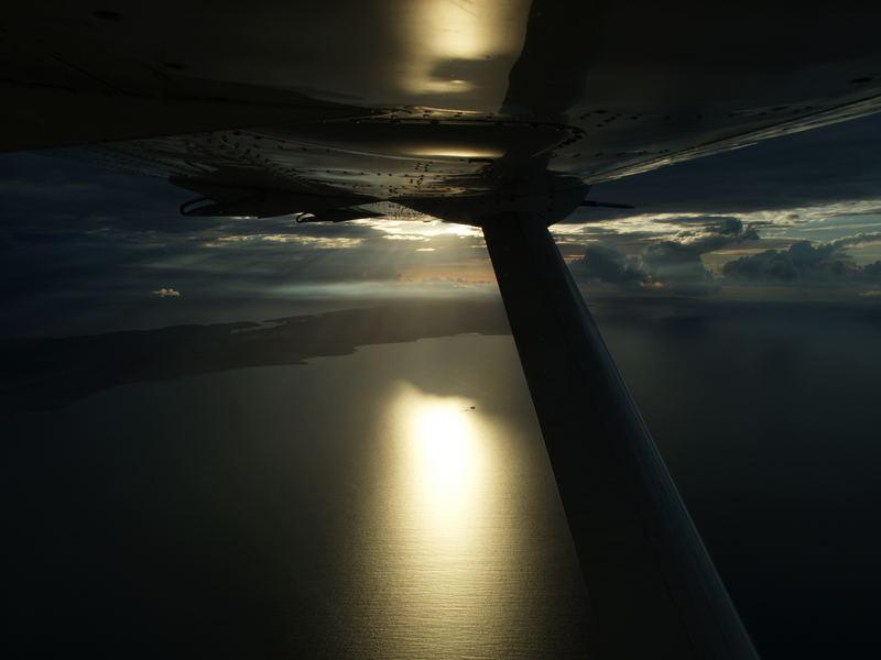 Flug über das Meer