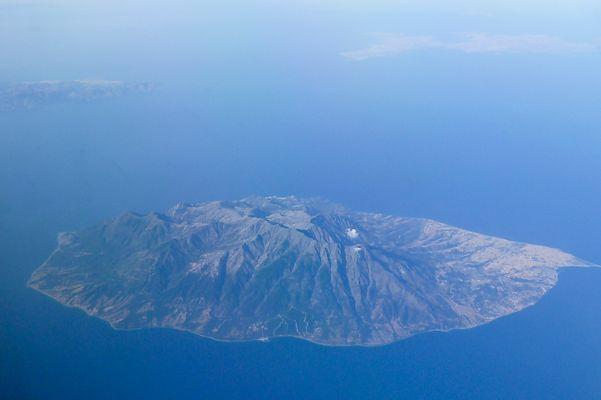 Flug über die Insel Samothraki