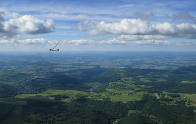 Flug über die Schwäbische Alb