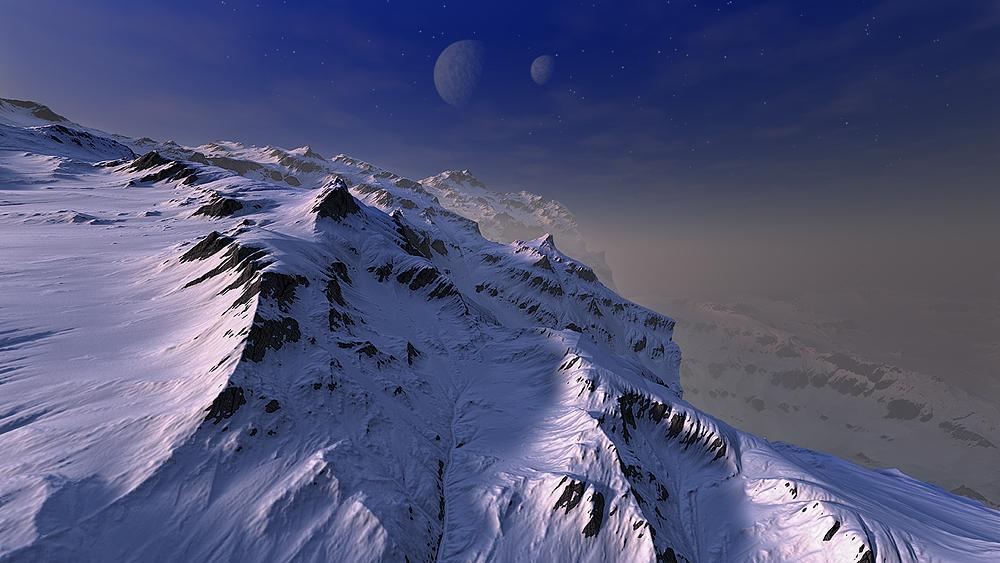 Flug über Ganymed