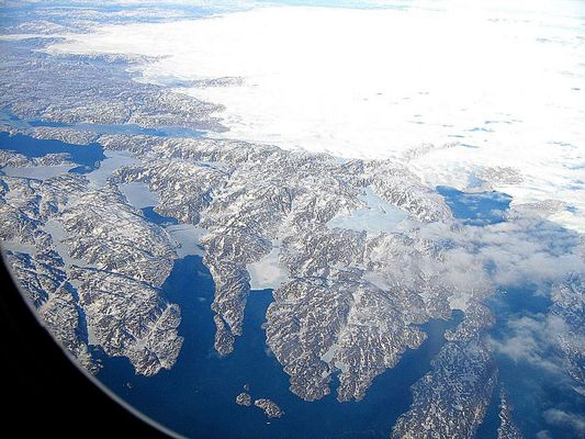 Flug über Grönland...