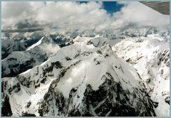 Flug über Neuseelands Süd- Alpen